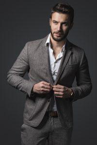 Portrait of a handsome man wearing suit